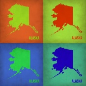 NAXART Studio - Alaska Pop Art Map 1