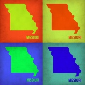 NAXART Studio - Missouri Pop Art Map 1