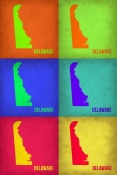 NAXART Studio - Delaware Pop Art Map 1