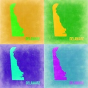 NAXART Studio - Delaware Pop Art Map 2