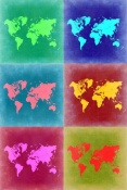 NAXART Studio - World Map Pop Art 4