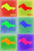 NAXART Studio - Honolulu  Pop Art Map 3