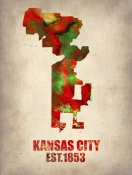 NAXART Studio - Kansas City Watercolor Map