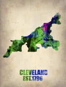 NAXART Studio - Cleveland Watercolor Map