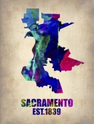 NAXART Studio - Sacramento Watercolor Map