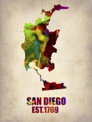 NAXART Studio - San Diego Watercolor Map