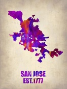 NAXART Studio - San Jose Watercolor Map