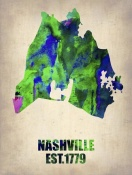 NAXART Studio - Nashville Watercolor Map