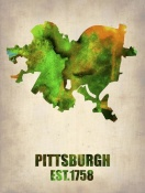 NAXART Studio - Pittsburgh Watercolor Map