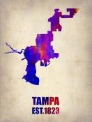 NAXART Studio - Tampa Watercolor Map
