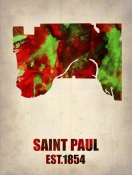 NAXART Studio - Saint Paul Watercolor Map