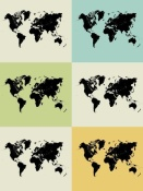 NAXART Studio - World Map Grid Poster