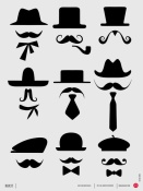 NAXART Studio - Hats and Mustaches Poster 1