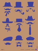 NAXART Studio - Hats and Mustaches Poster 2