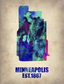 NAXART Studio - Minneapolis Watercolor Map