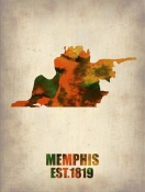NAXART Studio - Memphis Watercolor Map
