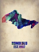 NAXART Studio - Honolulu Watercolor Map