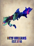 NAXART Studio - New Orleans Watercolor Map