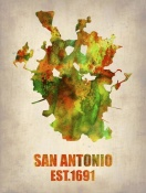 NAXART Studio - San Antonio Watercolor Map
