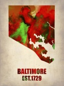 NAXART Studio - Baltimore Watercolor Map