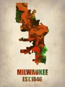 NAXART Studio - Milwaukee  Watercolor Map