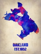 NAXART Studio - Oakland Watercolor Map