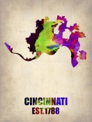 NAXART Studio - Cincinnati Watercolor Map