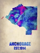 NAXART Studio - Anchorage Watercolor Map