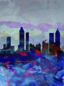 NAXART Studio - Atlanta Watercolor Skyline