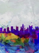 NAXART Studio - Columbus Watercolor Skyline
