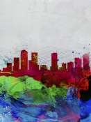 NAXART Studio - Denver Watercolor Skyline