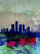 NAXART Studio - Detroit Watercolor Skyline