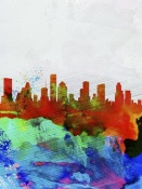 NAXART Studio - Houston Watercolor Skyline