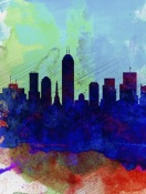 NAXART Studio - Indianapolis Watercolor Skyline