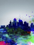 NAXART Studio - Kansas City Watercolor Skyline