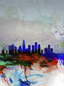 NAXART Studio - Los Angeles  Watercolor Skyline 1