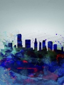 NAXART Studio - Miami Watercolor Skyline