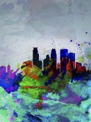 NAXART Studio - Minneapolis Watercolor Skyline