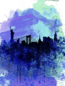 NAXART Studio - New York  Watercolor Skyline 2