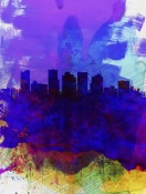 NAXART Studio - Phoenix Watercolor Skyline 1