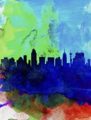 NAXART Studio - San Antonio Watercolor Skyline