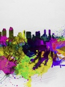 NAXART Studio - San Diego Watercolor Skyline