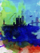 NAXART Studio - San Francisco Watercolor Skyline 2