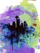 NAXART Studio - Seattle Watercolor Skyline 1