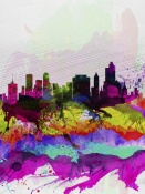 NAXART Studio - Tulsa Watercolor Skyline