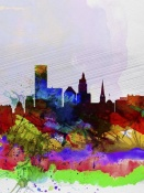 NAXART Studio - Providence Watercolor Skyline
