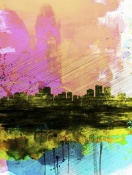 NAXART Studio - Anchorage Watercolor Skyline