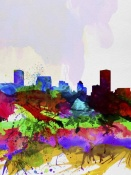 NAXART Studio - Baltimore Watercolor Skyline