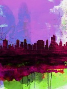 NAXART Studio - Tulsa Watercolor Skyline 2