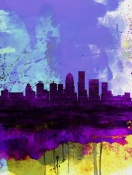 NAXART Studio - Louisville Watercolor Skyline